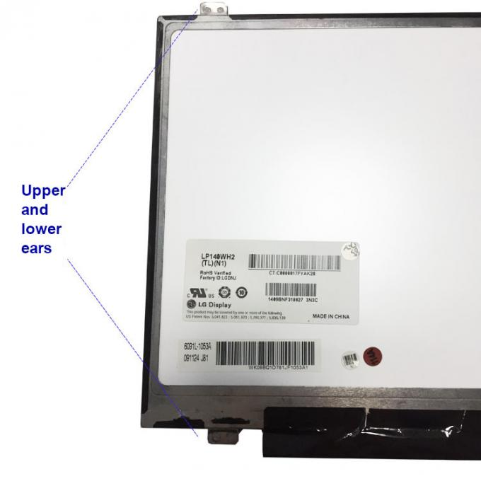 LP140WH2 TLN1 Laptop LCD Screen / LCD Panel Replacement LVDS 40 PIN 1366x768